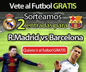 gana 2 entradas para real madrid vs barcelona